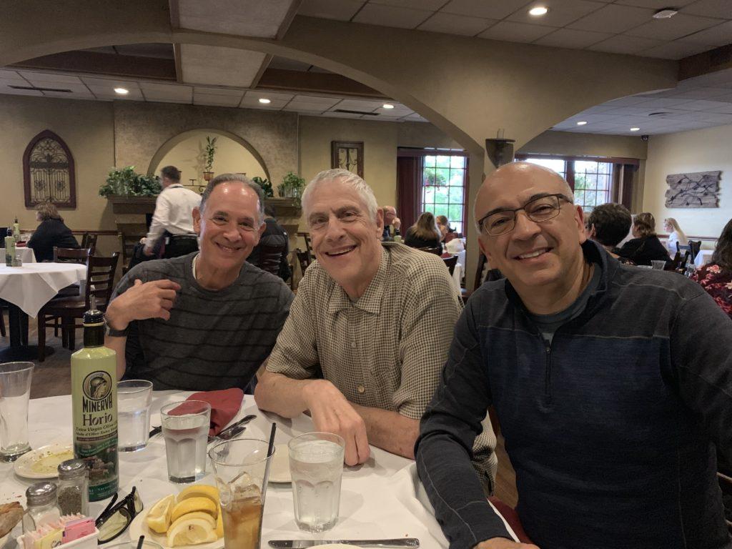Velo Club Roubaix - Mark Bruce and John at Restaurant